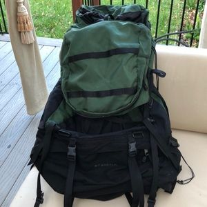 The North Face framed hiking backpack